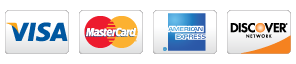 Major Cards accepted: American Express, Discover, MasterCard,   & Visa