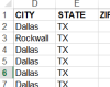 Export data visible on the map to excel