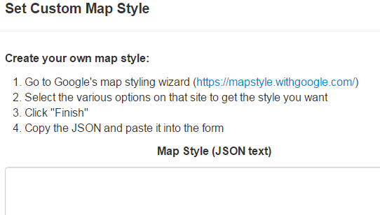 Choose a map style