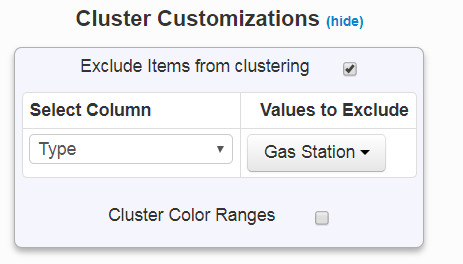 exclude from clustering